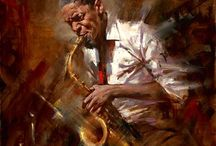 muzikanten schilderen