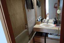 Reforma baño sin obras low cost / Reforma barata de cuarto de baño pequeño.