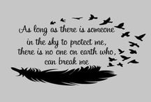 dokud je někdo na nebi, aby mě ochránil, není na zemi nikdo, kdo by mě zlomil