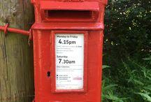 British Post Boxes - secret / Rare post boxes - non ERii