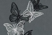 Embroidered Butterflies / A collection of different styles of embroidered butterflies