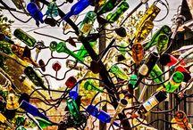 Bottle Trees  / Southern Customs ; Southern Yard Art