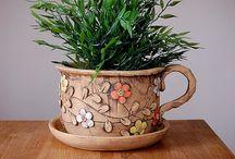 Keramické květníky / Keramika-květníky