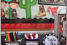 Cowboy Classroom Theme / Cowboy themed classroom decor, units, and crafts