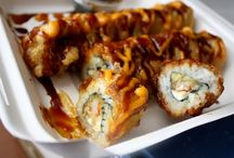 Fried sushi roll w/ shrimp tempura