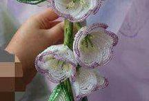 gyöngyből virág