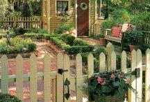 Garden sheds - Cabane de jardin / In, out and around ~ Dans, dehors et autour / by Rouge Cerise