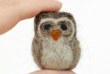 Needle Felt Critter Tutorials and Inspiration / All sorts of needle felt animals with craft tutorial links when possible