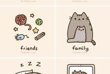 Pusheen,Stormy and Pip