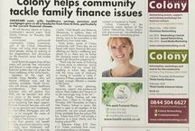 Testimonials & Press / Feedback from both attendees and coverage in local press about Colony business events and community projects