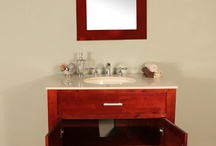 "FW-8016-37-CC Hudson 37"" Cherry Single Bathroom Vanity | Cream Marble"