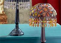 Beaded Lampshade Holder / Lampshade, Night, Lamp, Table Lamp,  Lighting