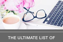 Awesome Bloggers and Blogging Strategies / blogging tips from other bloggers. Pinterest strategies.