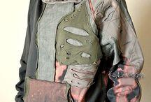 clothing - upcycled sweat shirts and Tshirts