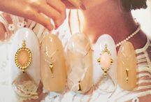 Nail pearls and liquid stones