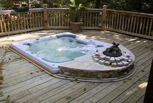 outdoor hot tub . aussenwhirlpool