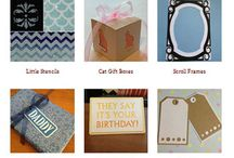 Templates & printables / Silhouette projects and templates
