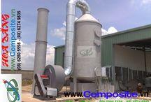 Bồn xử lý hóa chất / Công ty Hoa Đăng Composite chuyên sản xuất và phân phối sỉ lẻ các sản phẩm về composite: Quạt, Ống, Bồn,... LH: 0918 644 259.