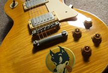 "Decorated Guitar / inlay sticker ""Decorated Guitar"" guitar decals"