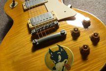 "Decorated Guitar / inlay sticker ""Decorated Guitar"" guitar decals"