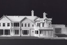 Architectural Models by Gary Lawrance, AIA of Miniature Mansions. / Miniature Mansions in the Hamptons, from Southampton to East Hampton, designed by noted architects, Francis Fleetwood & James McMullan, Frank Greenwald, Peter Cook, Kitty McCoy.