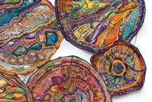 Fabric printing and painting / Stamping, batik, hand painted fabrics, tie dye, various methods and examples of fabric printing and painting.