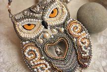 Sova z korálků (owl beaded)