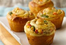 Receipes / Chicken pot pie cupcakes
