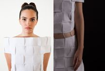 Chess / Irregular dress with frayed edges made from rustic jute and linen.