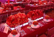 Red Weddings / A variety of wedding, shower, party, and other special event ideas in shades and tints of red. #red #wedding #shower #party #ideas