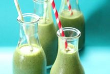 Smoothies / Healthy fruit and veggie smoothies