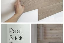 Peel and stick wood