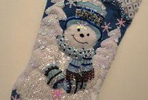 Bota  niño de nieve de Navidad