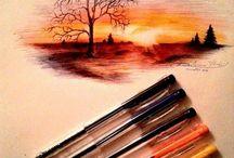 szines tollal