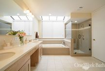 Bathroom Design 125 / Transitional bathroom design from southern California bathroom remodeler One Week Bath.