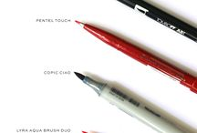 Brush,Pens