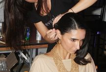 2014 SHUZZ Fashion Show / Eleven Spa Delray backstage in hair and makeup preparing for the Zac Posen Runway Show.