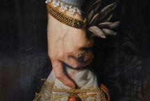 Historical Portaits and paintings / Történelmi személyekről készült képek részletei; illetve történelmi jellegű festmények