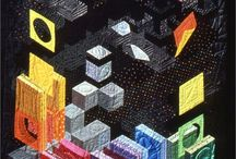 Art Quilts - Isometric Perspective / Isometric Perspective Quits by Katie Pasquini Masopust