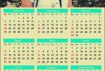 Fridge Magnet Calendar