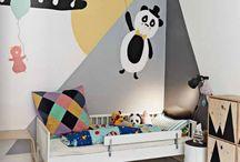 Børnemotiver på vægge