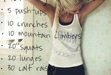 Morning and afternoon workouts
