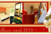 Nouvel An 2015 / Newsletter du nouvel an 2015. Séjour à l'hôtel les 2 Rives pour deux personnes. Offres promotionnelles.