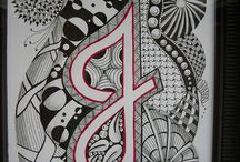 Zentangle Letters / by Vicki Kimsey-Singer