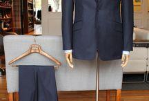 Banker Stripe Suit - Dormeuil / https://www.facebook.com/media/set/?set=a.10152036848539844.1073742025.94355784843&type=3  #madetomeasure #mtm #buczynskitailoring #buczynski #dormeuil #stripesuit