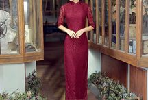 Lace Cheongsam Qipao Chinese Dress / Lace Cheongsam Qipao Chinese Dress