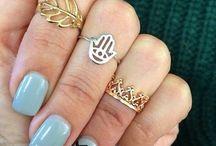 anillos de medio dedo