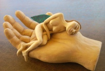 clay sculptures / handmade sculptures with clay