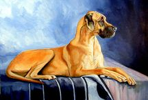 Great Dane art by Lyn Hamer Cook / My art of the magnificent, sometimes goofy, and always lovable Great Dane.