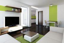 Návrh interiéru bytu 2+kk v Brně - Komíně / Řešený prostor se nachází v novostavbě.